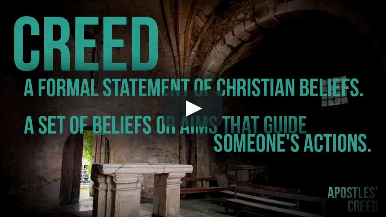 Is important why creed the apostles Apostles' Creed